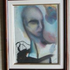 Arte: IGNASI CORRONS VILALTA (MANRESA, 1957) - 1.971 - PASTEL SOBRE PAPEL ENMARCADO CRISTAL 52,5 X 42,5. Lote 93799280