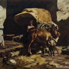 Arte: PINTURA AL ÓLEO. J. SERRASANTA. 1950. . Lote 117433371