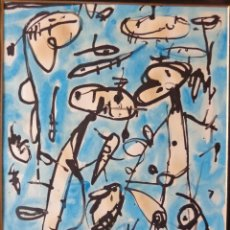 Arte: ANTONIO SAURA (ÓLEO SOBRE PAPEL). Lote 117518367