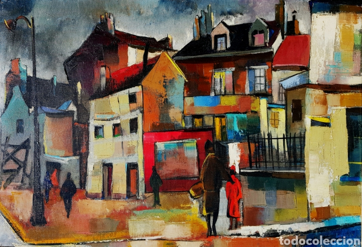 MAURILLE PREVOST (PARIS 1929), PRECIOSA PINTURA ORIGINAL VINTAGE PARISINA FIRMADA. (Arte - Pintura - Pintura al Óleo Contemporánea )
