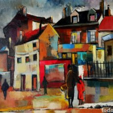 Arte: MAURILLE PREVOST (PARIS 1929), PRECIOSA PINTURA ORIGINAL VINTAGE PARISINA FIRMADA.. Lote 110893395