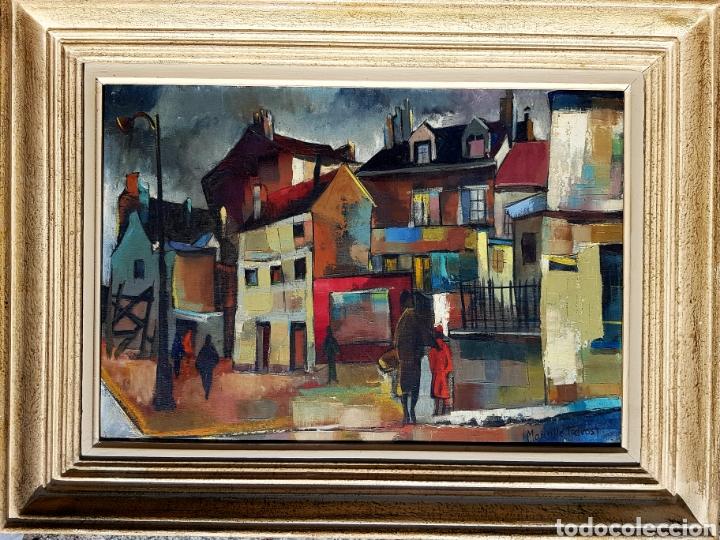Arte: Maurille Prevost (Paris 1929), preciosa pintura original vintage parisina firmada. - Foto 2 - 110893395