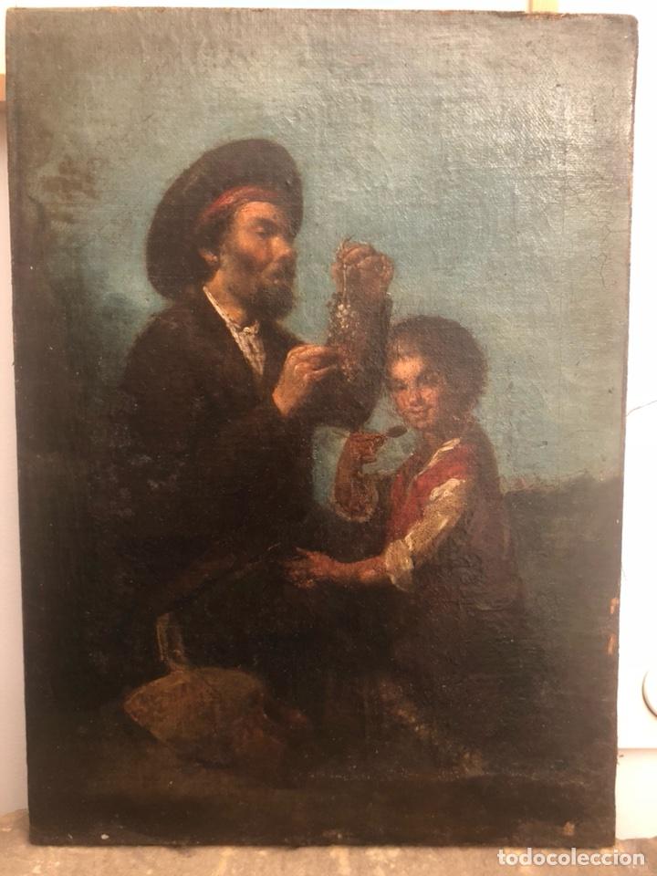 PINTURA ÓLEO LIENZO. LAZARILLO DE TORMES. ESCUELA ESPAÑOLA. SIGLO XVIII. PEDRO NUÑEZ VILLAVICENCIO. (Arte - Pintura - Pintura al Óleo Antigua siglo XVIII)