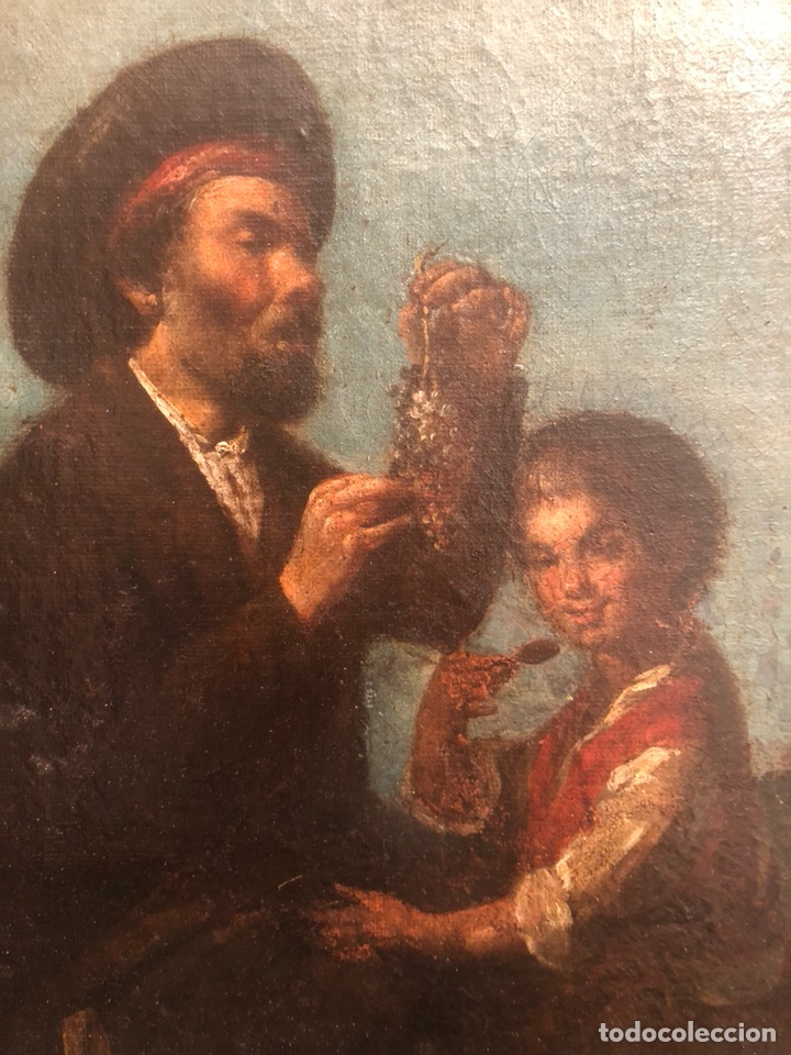 Arte: Pintura óleo lienzo. Lazarillo de Tormes. Escuela Española. Siglo XVIII. Pedro Nuñez Villavicencio. - Foto 2 - 117773803