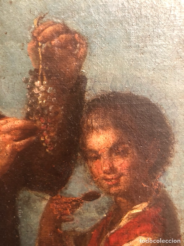 Arte: Pintura óleo lienzo. Lazarillo de Tormes. Escuela Española. Siglo XVIII. Pedro Nuñez Villavicencio. - Foto 3 - 117773803