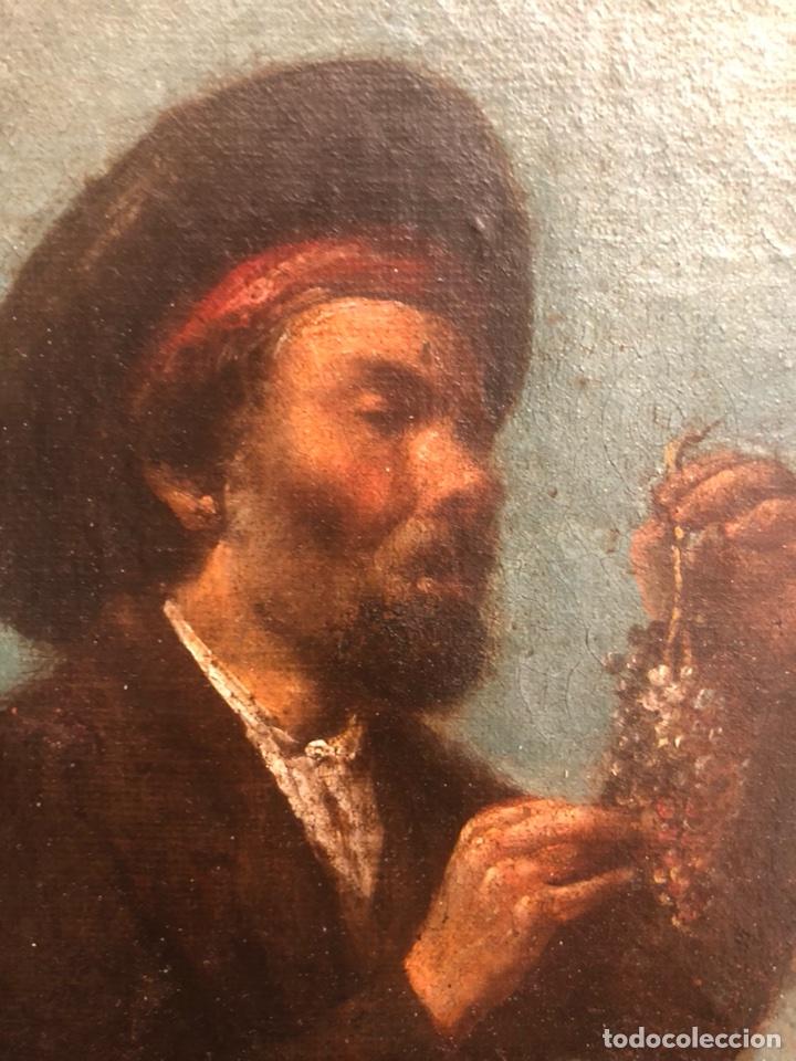Arte: Pintura óleo lienzo. Lazarillo de Tormes. Escuela Española. Siglo XVIII. Pedro Nuñez Villavicencio. - Foto 4 - 117773803