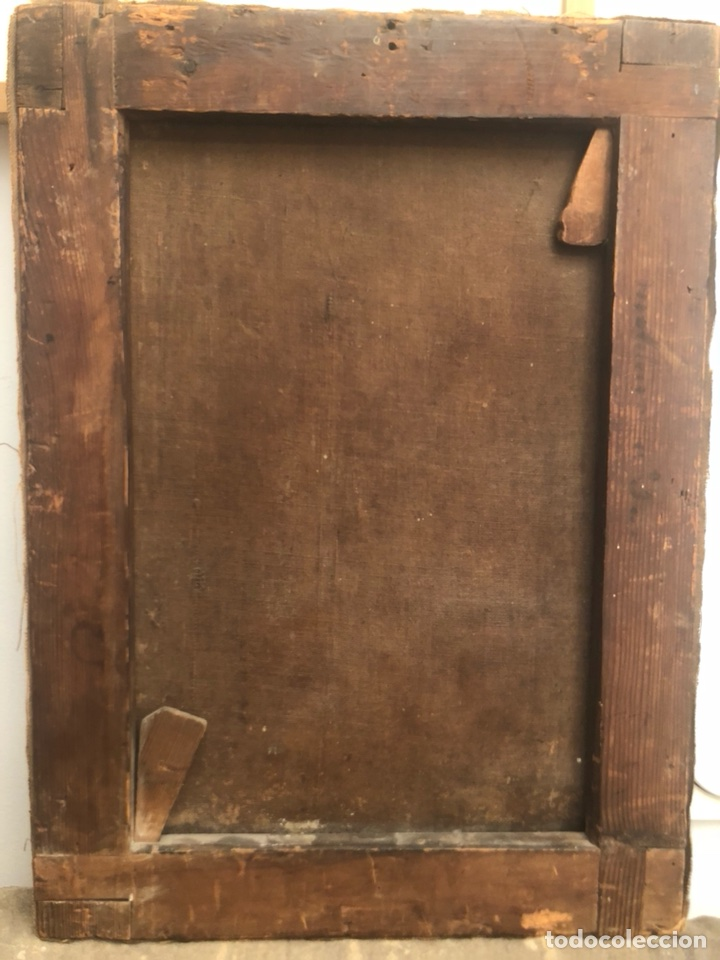 Arte: Pintura óleo lienzo. Lazarillo de Tormes. Escuela Española. Siglo XVIII. Pedro Nuñez Villavicencio. - Foto 6 - 117773803