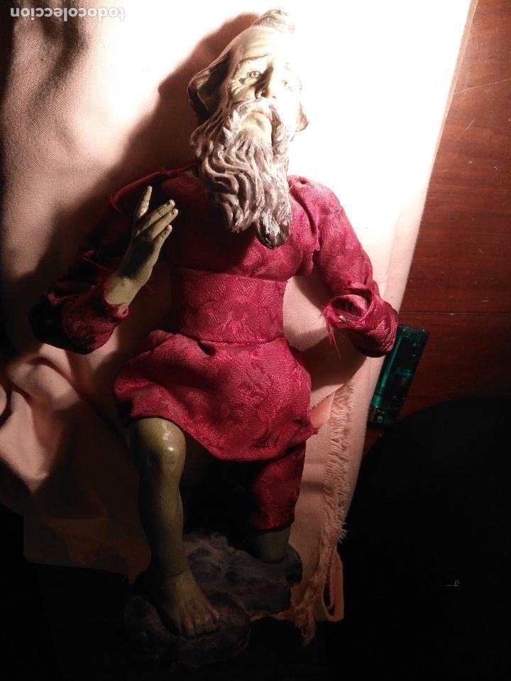 Arte: GRAN FIGURA BELEN NAPOLITANO SAN JOSE O REY MAGO BARRO COCIDO ARRODILLADO - POLICROMADO - Foto 38 - 117796875