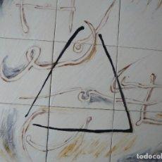 Arte: MURAL - ESMALTE SOBRE CERÁMICA - FIRMADO TERESA MAS - COMPOSICIÓN ABSTRACTA. Lote 117845831