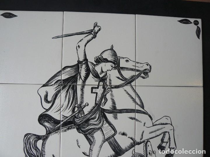 Arte: MURAL - ESMALTE SOBRE CERÁMICA - FIRMADO TERESA MAS - SANT JORDI - Foto 2 - 117846875