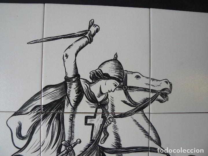 Arte: MURAL - ESMALTE SOBRE CERÁMICA - FIRMADO TERESA MAS - SANT JORDI - Foto 3 - 117846875
