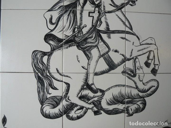 Arte: MURAL - ESMALTE SOBRE CERÁMICA - FIRMADO TERESA MAS - SANT JORDI - Foto 4 - 117846875