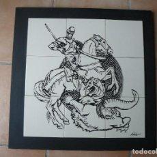 Arte: MURAL - ESMALTE SOBRE CERÁMICA - FIRMADO TERESA MAS - SANT JORDI. Lote 117847251