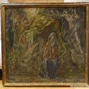 Arte: GRAN OBRA DE ARTE DEL SIGLO XVI, CIRCULO DEL GRECO, MADONNA EN LA GRUTA CON ANGELES, PINTURA AL OLEO. Lote 117849739