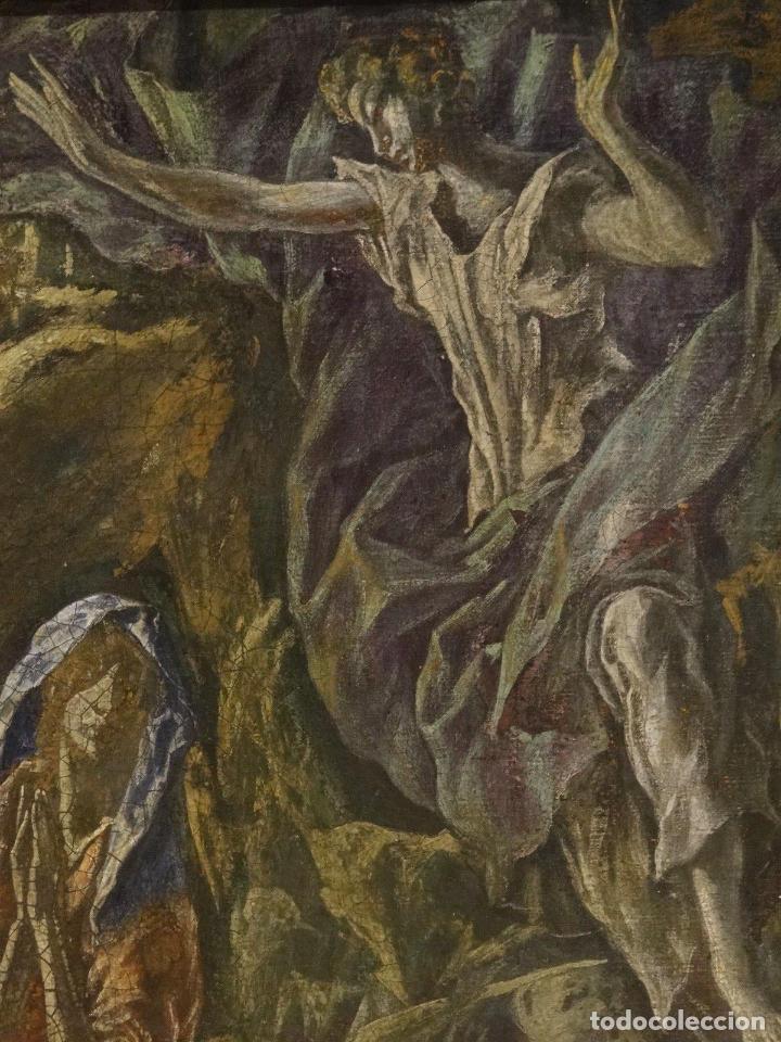 Arte: GRAN OBRA DE ARTE DEL SIGLO XVI, CIRCULO DEL GRECO, MADONNA EN LA GRUTA CON ANGELES, PINTURA AL OLEO - Foto 8 - 117849739