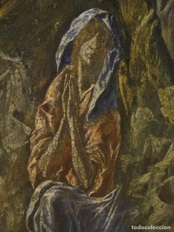 Arte: GRAN OBRA DE ARTE DEL SIGLO XVI, CIRCULO DEL GRECO, MADONNA EN LA GRUTA CON ANGELES, PINTURA AL OLEO - Foto 9 - 117849739