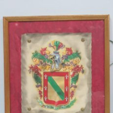 Arte: ESCUDO DE ARMAS FAMILIA PUJOL. HERALDICA. PINTADO A MANO. AÑOS 40. Lote 117862683