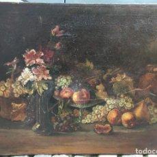 Arte: JULIA ALCAYDE MONTOYA (1865-1939) PINTORA ESPAÑOLA - ÓLEO SOBRE TELA - NATURALEZA MUERTA. Lote 117957567
