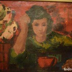 Arte: MUJER FUMANDO (FOVISMO), SAURA. Lote 117960043