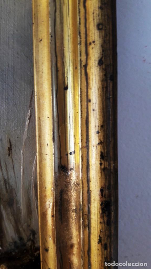 Arte: Pequeño óleo sobre zinz con escena fluvial siglo XIX firmado por M. Esquivel - Foto 6 - 118037499