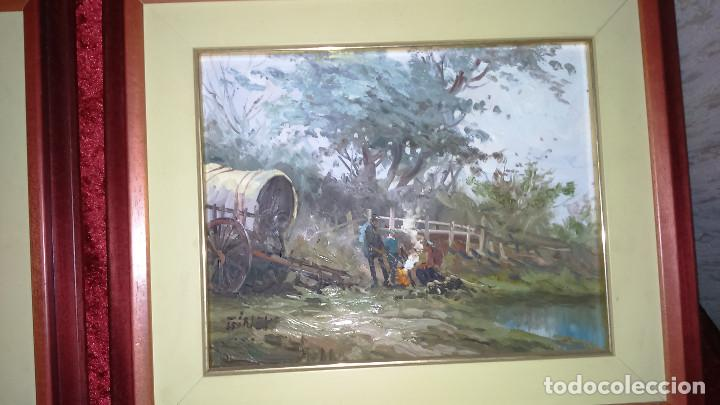 ESCENA CAMPESTRE 43X37 AUTOR GINER ORIGINAL / TABLEX (Arte - Pintura - Pintura al Óleo Contemporánea )
