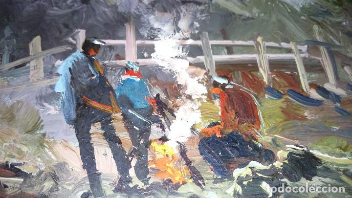Arte: Escena campestre 43x37 autor Giner ORIGINAL / TABLEX - Foto 2 - 118056179
