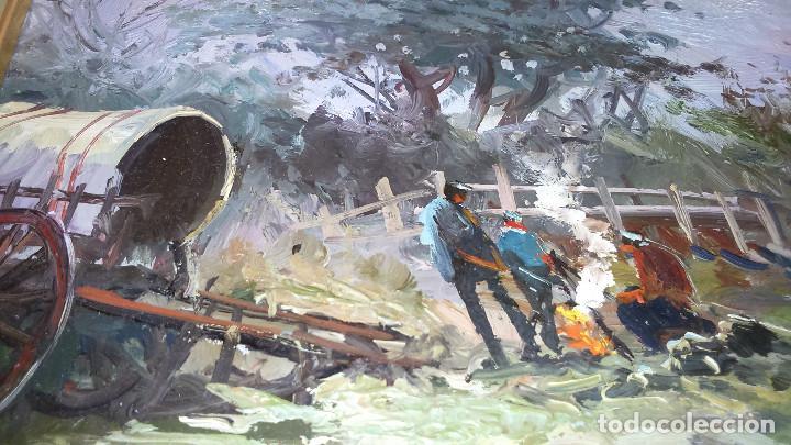 Arte: Escena campestre 43x37 autor Giner ORIGINAL / TABLEX - Foto 4 - 118056179
