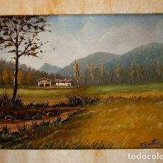 Arte: PRECIOSO OLEO SOBRE TABLA -FIRMA E. BARTRINA - ESCUELA CATALANA DE OLOT - ANTIGUO PAISAJE OLOT -. Lote 118094647
