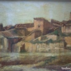 Arte: P. NAVARRO OLEO SOBRE TABLEX PAISAJE RURAL PINTURA CON ''FUERZA'', DE CALIDAD. Lote 118175555