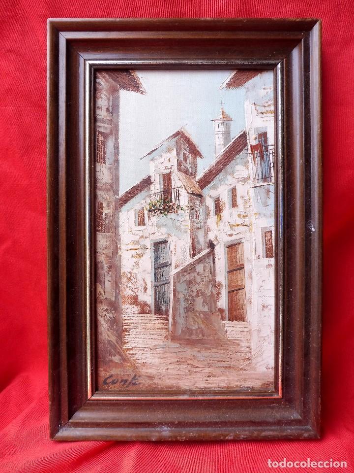 pintura al óleo, firmado conte, enmarcada. casa - Comprar Pintura al ...