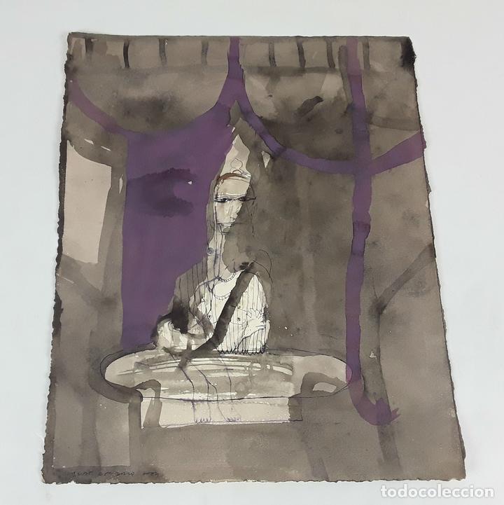 TARA. TÉCNICA MIXTA SOBRE CARTULINA. A. GONZALO CARBÓ. 2004. (Arte - Pintura - Pintura al Óleo Contemporánea )