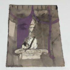 Arte: TARA. TÉCNICA MIXTA SOBRE CARTULINA. A. GONZALO CARBÓ. 2004.. Lote 118249571