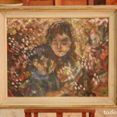 Arte: PINTURA ITALIANA FIRMADA Y DATADA DE LA 'MATERNIDAD'. Lote 118264439