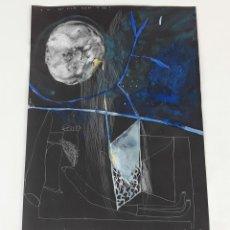 Arte: MARÍA DURMIENDO....TÉCNICA MIXTA SOBRE CARTULINA. A. GONZALO CARBÓ. 2006.. Lote 118265483