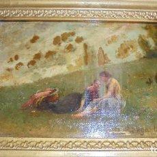 Arte: (M) JOSEP BERGA I BOIX CONOCIDO COMO EL AVI BERGA - 1837/1914 - PAISAJE DE OLOT , PINTADO AL OLEO . Lote 118279135