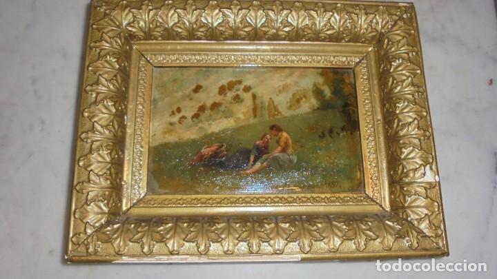 Arte: (M) JOSEP BERGA I BOIX CONOCIDO COMO EL AVI BERGA - 1837/1914 - PAISAJE DE OLOT , PINTADO AL OLEO - Foto 3 - 118279135