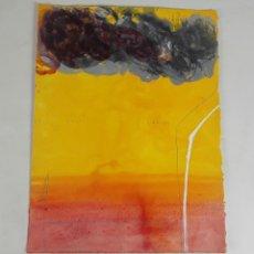 Arte: LOS CIELOS NO SONRÍEN. TÉCNICA MIXTA SOBRE CARTULINA. A. GONZALO CARBÓ. 2005.. Lote 118363063