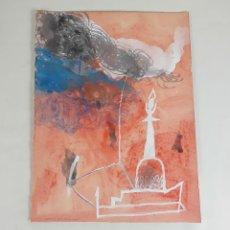 Arte: LA ESTRUCTURA CÓSMICA...TÉCNICA MIXTA SOBRE CARTULINA. A. GONZALO CARBÓ. 2005.. Lote 118364107