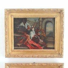 Arte: 2 CUADROS OLEO SOBRE LIENZO. ESCUELA ITALIANA. SIGLO XVIII. Lote 118437791