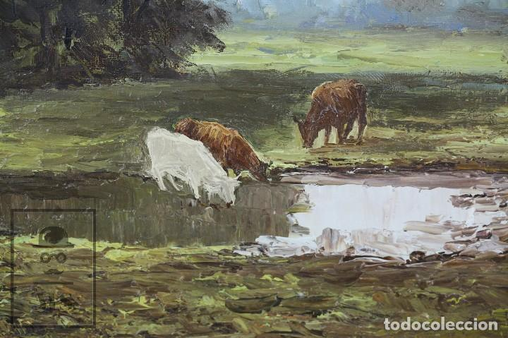 Arte: Pintura al Óleo Sobre Lienzo - Paisaje Rural, Firmado J. Sacrest - Medidas 44,5 x 36 cm - Foto 4 - 118455823