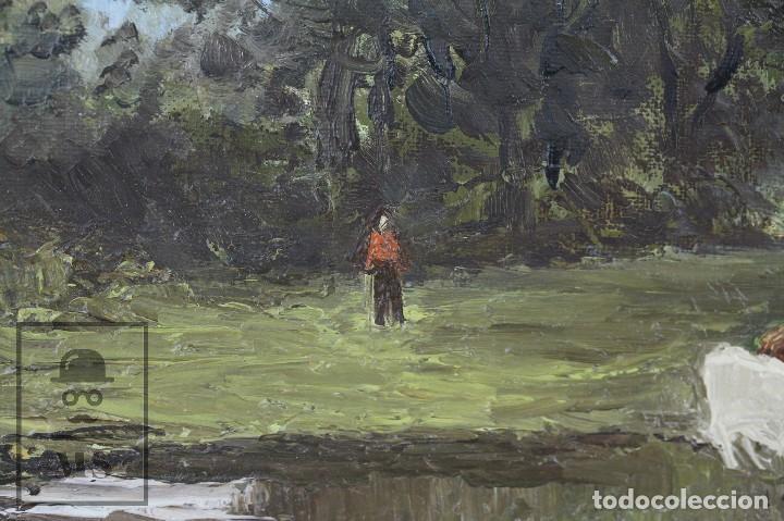 Arte: Pintura al Óleo Sobre Lienzo - Paisaje Rural, Firmado J. Sacrest - Medidas 44,5 x 36 cm - Foto 5 - 118455823