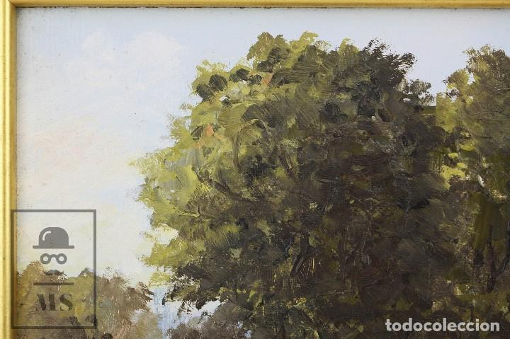 Arte: Pintura al Óleo Sobre Lienzo - Paisaje Rural, Firmado J. Sacrest - Medidas 44,5 x 36 cm - Foto 6 - 118455823