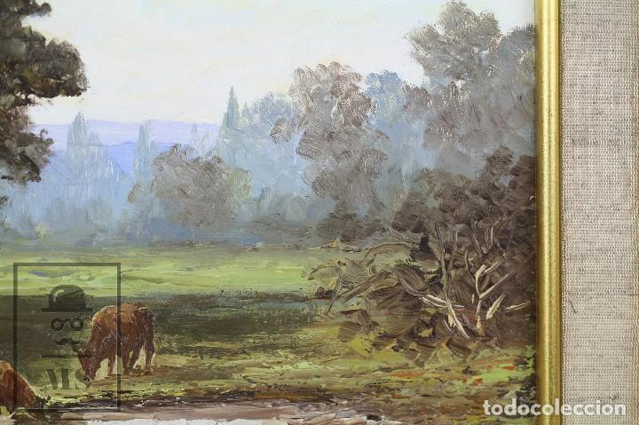 Arte: Pintura al Óleo Sobre Lienzo - Paisaje Rural, Firmado J. Sacrest - Medidas 44,5 x 36 cm - Foto 7 - 118455823