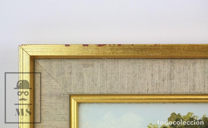Arte: Pintura al Óleo Sobre Lienzo - Paisaje Rural, Firmado J. Sacrest - Medidas 44,5 x 36 cm - Foto 8 - 118455823