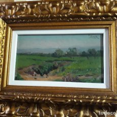 Arte: TOMÁS VIVER AYMERICH (TERRASSA 1876 - 1951) OLEO TABLA PAISAJE. Lote 118534803