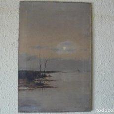 Arte: OLEO SOBRE TELA - FIRMADO S. MATILLA - ATARDECER. Lote 118575167