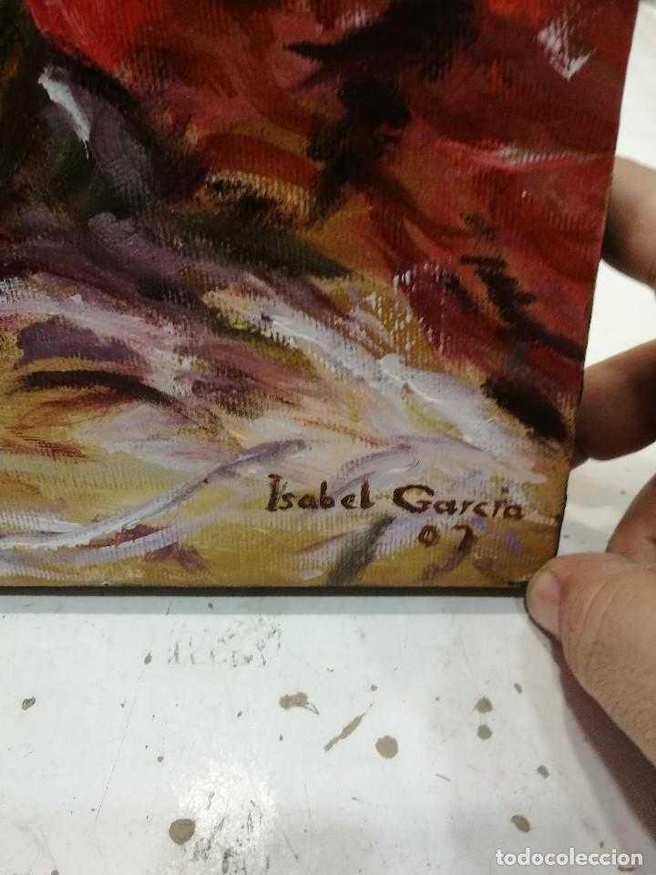 Arte: Oleo sobre lienzo de bodegon de manzanas firmado isabel garcia 07 - Foto 4 - 118582411