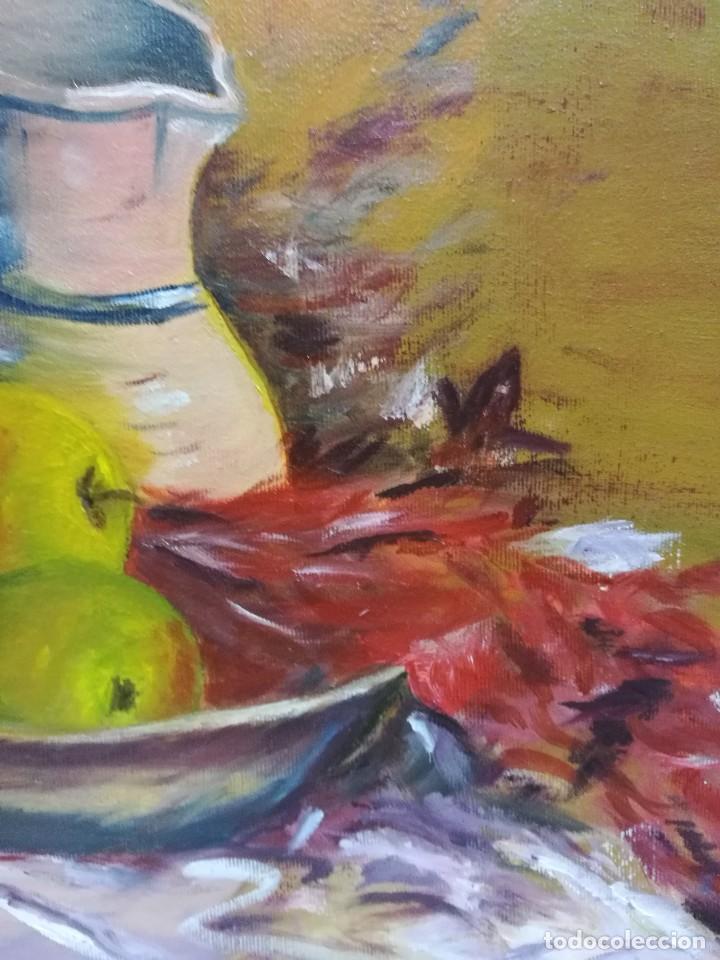 Arte: Oleo sobre lienzo de bodegon de manzanas firmado isabel garcia 07 - Foto 5 - 118582411