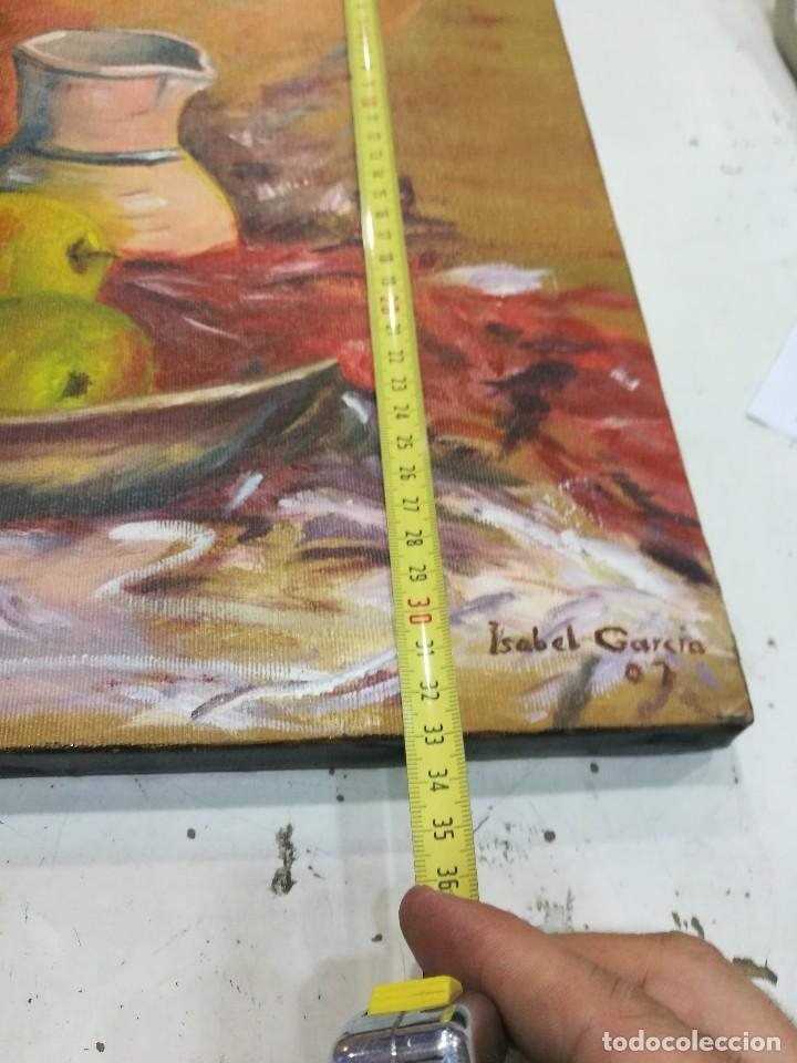 Arte: Oleo sobre lienzo de bodegon de manzanas firmado isabel garcia 07 - Foto 9 - 118582411
