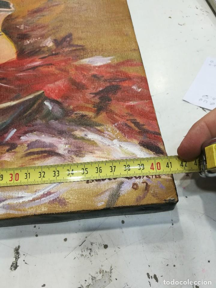 Arte: Oleo sobre lienzo de bodegon de manzanas firmado isabel garcia 07 - Foto 10 - 118582411